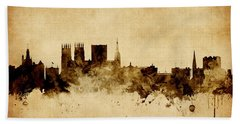 York England Skyline Bath Towel