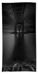 Bath Towel featuring the photograph 50 Shades Of Verrazano by Edgars Erglis