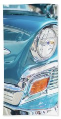 50s Chevy Chrome Hand Towel by Mike Reid