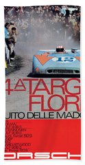 54th Targa Florio Porsche Race Poster Bath Towel