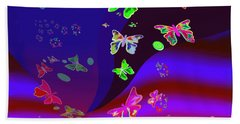 557   Butterflies Dance In The  Night V Hand Towel