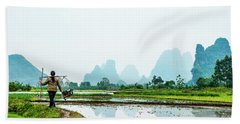 Karst Rural Scenery In Spring Bath Towel
