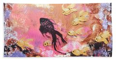 8 Gold Fish Bath Towel