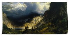 A Storm In The Rocky Mountains, Mt. Rosalie Bath Towel