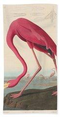 American Flamingo Hand Towel