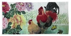 Chinese Painting Bath Towel