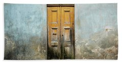 Bath Towel featuring the photograph Door With No Number by Marco Oliveira