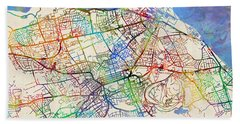 Edinburgh Street Map Hand Towel