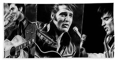 Elvis Bath Towel by Marvin Blaine