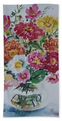Floral Still Life Hand Towel