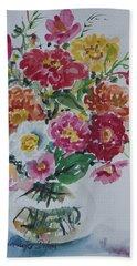 Floral Still Life Bath Towel by Alexandra Maria Ethlyn Cheshire