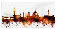 Florence Italy Skyline Hand Towel by Michael Tompsett