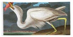 Great White Heron Hand Towel