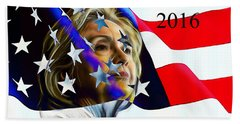 Hillary Clinton 2016 Collection Hand Towel by Marvin Blaine