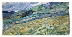 Landscape From Saint-remy Bath Towel