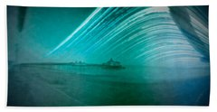6 Month Exposure Of Eastbourne Pier Bath Towel