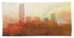 Hand Towel featuring the digital art Oklahoma City Oklahoma Skyline by Marlene Watson