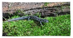 Slimy Salamander Hand Towel by Ted Kinsman