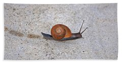 Bath Towel featuring the photograph 6- Snail by Joseph Keane