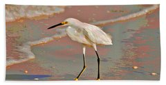 Bath Towel featuring the photograph 6- Snowy Egret by Joseph Keane