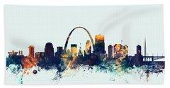 St Louis Missouri Skyline Hand Towel