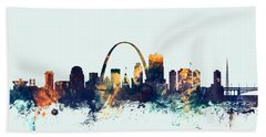 St Louis Missouri Skyline Bath Towel