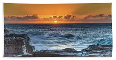 Sunrise Seascape With Sun Hand Towel