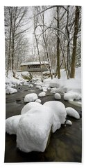 Tannery Hill Covered Bridge Bath Towel