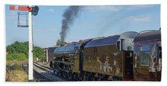 6201 Princess Elizabeth At Swanwick Station Hand Towel