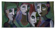 Hand Towel featuring the digital art 649 - Gauntly Ladies by Irmgard Schoendorf Welch