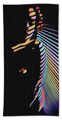 6580s-nlj Woman In Shadows By Window Zebra Striped Rendered In Composition Style Bath Towel