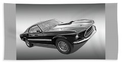 69 Mach1 In Black And White Bath Towel