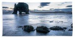 Dinosaur Rock Beach In Iceland Bath Towel