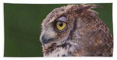 Great Horned Owl  Bath Towel