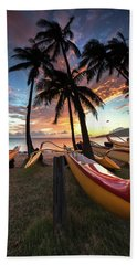 Kihei Canoes Hand Towel by James Roemmling