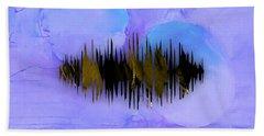 Namaste Spoken Soundwave Hand Towel by Marvin Blaine