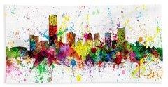 Bath Towel featuring the digital art Oklahoma City Skyline by Michael Tompsett