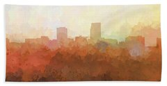 Hand Towel featuring the digital art Omaha Nebraska Skyline by Marlene Watson
