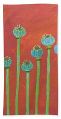 7 Poppy Seed Pods Hand Towel