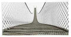 Rope Bridge On White Bath Towel