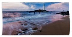 Saint Mary's Lighthouse At Whitley Bay Bath Towel