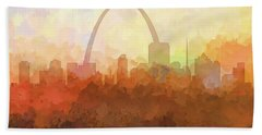 St Louis Missouri Skyline Hand Towel