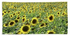 Sunflowers Mattituck New York Bath Towel