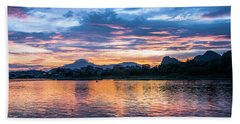 Sunrise Scenery In The Morning Bath Towel