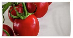 Tomatoes Bath Towel by Cesar Vieira