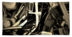 Hand Towel featuring the photograph Vintage Motorbike by Dariusz Gudowicz