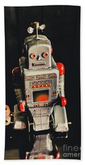 70s Mechanical Android Bot  Hand Towel