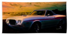 72 Ford Ranchero By The Sea Hand Towel