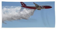 747 Supertanker Drop Bath Towel by Bill Gabbert