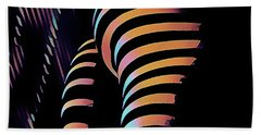 Hand Towel featuring the digital art 7485s-mak Zebra Striped Butt Bum Woman By Window In Composition Style by Chris Maher